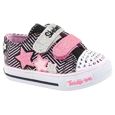 Pre-School Girls Skechers Twinkle Toes Multi Canvas Shoes Size 9
