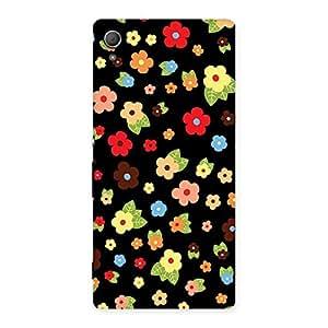 Multicolor in Black Back Case Cover for Xperia Z4