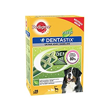Pedigree Dentastix Fresh Friandises Pack DE 28 Sticks Hygiène Bucco Dentaire pour Grand Chien