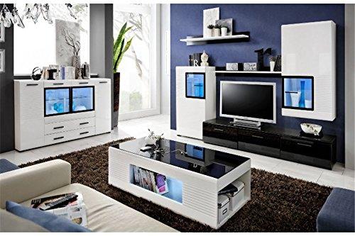 Meuble TV Design Mural Mete - Noir et Blanc