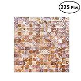 SUPVOX Fliesen Ziegel Quadrat Shell Mosaik Muster Keramikfliesen für Küche Badezimmer Wände Whirlpools Wohnzimmer 225pcs