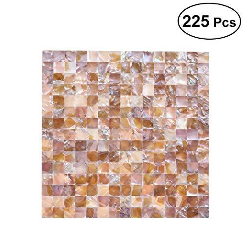 l Quadrat Shell Mosaik Muster Keramikfliesen für Küche Badezimmer Wände Whirlpools Wohnzimmer 225pcs ()