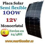 Placa Solar Semi Flexible 100w 12v Monocristal