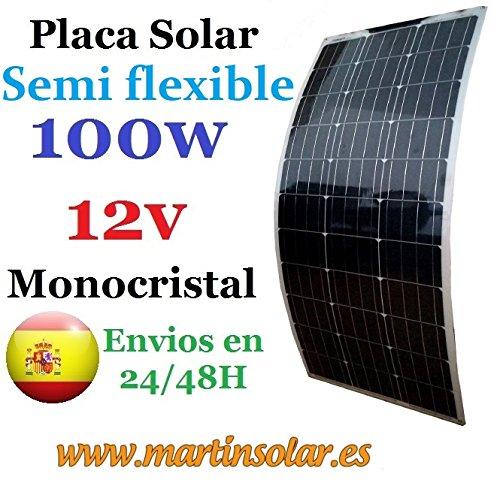 Especificación del módulo solar monocristalino 100W 12v. Tipo de celulas Monocristal Potencia máxima (Wp) 100Wp Tensión máxima potencia (V) 18,5 Corriente máxima (A) 5,41 Tensión de circuito abierto (V) 22,5 Tensión de cortocircuito (A) 5,92 Número d...