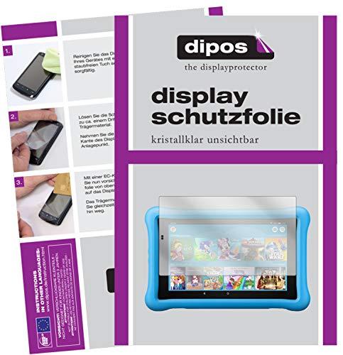 dipos I 2X Schutzfolie klar passend für Amazon Fire HD 8 Kids Edition (2018) Folie Bildschirmschutzfolie