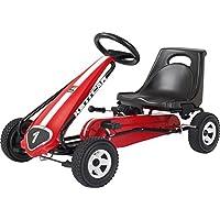 Kettler T01015-3000 Kettcar Melbourne - DAS ORIGINAL - Kinder Go Karts - robustes Tretauto - mit hochwertiger Kunststoffbereifung - rot & schwarz