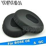 WEWOM 2 Hochwertige Ersatz Ohrpolster für BOSE OE OE2 OE2i QuietComfort 3 QC3 SoundTrue Kopfhörer inkl. Halterung