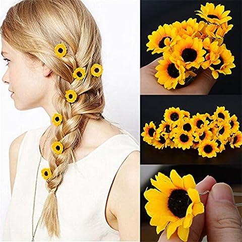 5x Boho Daisy Blume Haar Cuff Clip Haar Pin Hochzeit Brautschmuck Haar Stick Jewelry