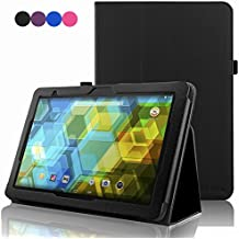 BQ Tablet Edison 3 10.1 Inch Case, ACdream Folio Premium PU Leather Cover Case for BQ Edison 3 10.1 inch tablet, Black