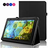 BQ Tablet Edison 3 10.1 Inch Case, ACdream Folio Premium PU Leather Cover Case for BQ Edison 3 10.1 inch tablet, Black