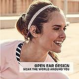 AfterShokz Trekz Titanium Open-Ear Wireless Bone Conduction Headphones with Portable Storage Case, Canyon Red