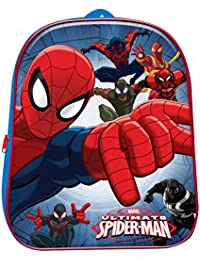 Mochila Mochila Guardería para Niños 3d Ultimate Spiderman Marvel