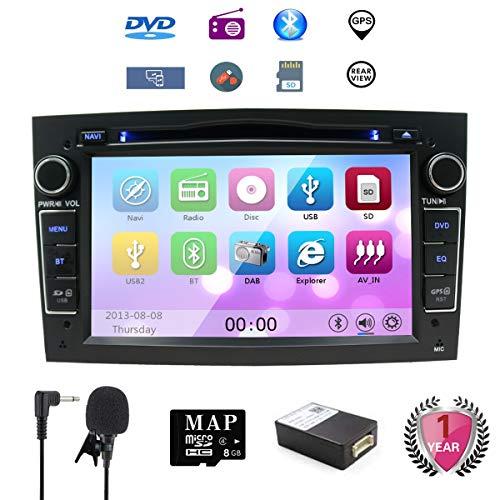"NVGOTEV Opel Double Din Stereo, 7"" Car DVD CD Player Sat Navi GPS for Opel Corsa Zafira Antara Astra Vectra Meriva Support GPS Audio Video Bluetooth USB SD SWC 3G WiFi FM AM RDS AV Output(Black)"