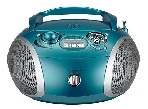 Grundig GRB 2000 Tragbare Radio Boombox türkis/silber