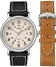 Timex Orologio Analogico Classico Quarzo Uomo con Cinturino in Pelle TWG019300