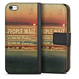 DeinDesign Apple iPhone 5c Étui Étui Folio Étui magnétique People Wait 2