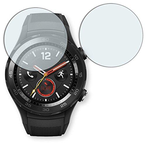 "2 x protectores pantalla Golebo para Huawei Watch 2. Lámina protectora adhesiva invisible ""Crystal Clear"". Fabricado en Alemania."