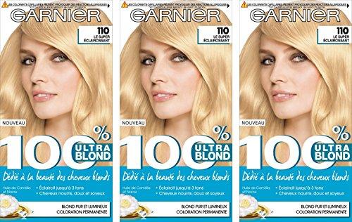 Garnier 100% Ultra Blond ACCESS Coloration Permanente 110 Le Super Eclaircissant - Lot de 3