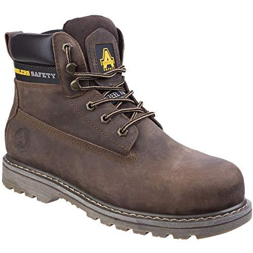 Amblers Unisex FS164 Sicherheits Schuhe / Damen/Frauen Stiefel (48 EUR) (Braun) (Sicherheits-stiefel Frauen)