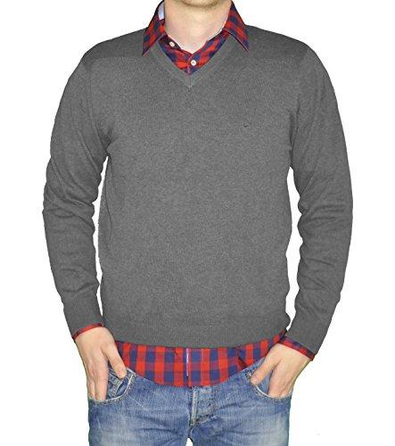 Redmond - Herren Pullover mit V-Ausschnitt in verschiedenen Farben (Art.Nr.: 600) Grau(70)