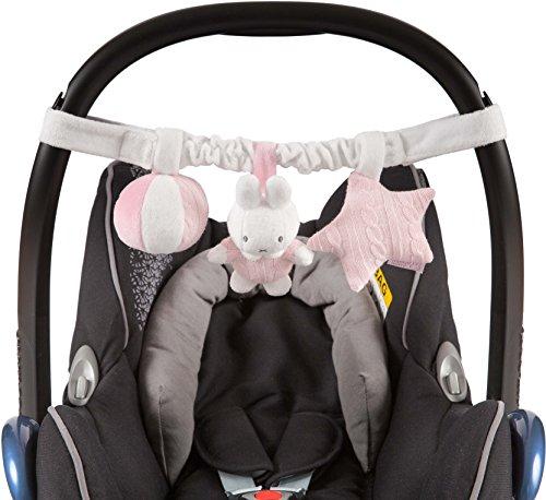 Nijntje NIJN212 Autositz Spielzeug Miffy rosa gestrickt