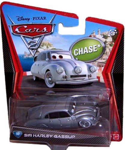 Disney Pixar CARS 2 Movie 1:55 Die Cast Car Sir Harley Gassup # 50 *Chase* (Cars 2 Disney Diecast)