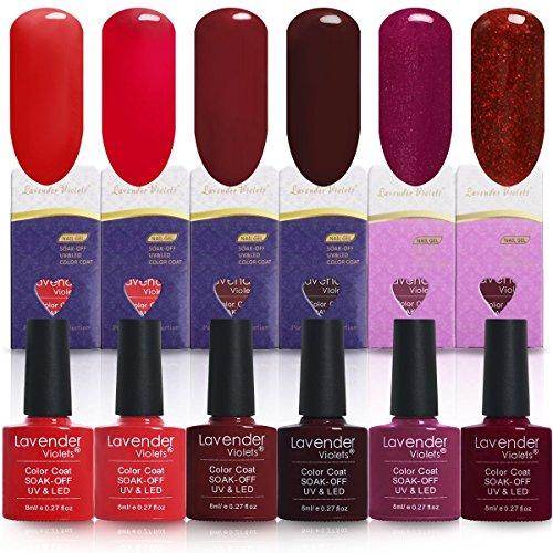 Used, Lavender Violets® 6 Colours Gel Nail Polish Soak off for sale  Delivered anywhere in UK