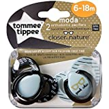 Tommee Tippee Closer to Nature–Moda: 2x Chupete 6–18M (Geek Chic)