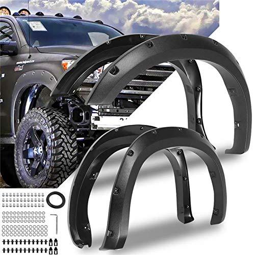 Baedivg 4 STÜCKE Für Fender Flare Autozubehör Schwarz Farbe Kotflügel, Für Toyota Tundra 2007-2013 (2009 Fender Flares)