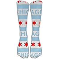 Men&Women Chicago City Flag USA All Sport Knee High Socks Athletic Sock Shoe Size 6-10 One Size preisvergleich bei billige-tabletten.eu
