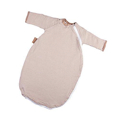 Preisvergleich Produktbild Hoppediz Baby-Schlafsack 44-50 natur gestreift