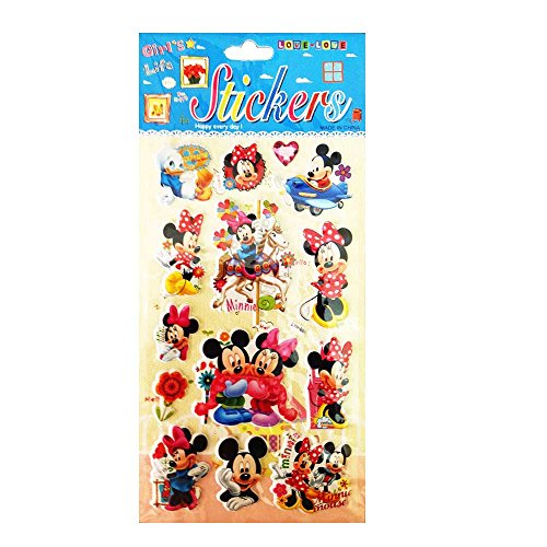 PARTY PROPZ MICKEY MOUSE STICKER / MINNIE MOUSE STICKER PARTY SUPPLIES