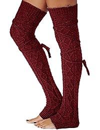 Amazon.fr   Rouge - Bas autofixants   Chaussettes et collants ... 36febc5c4d8