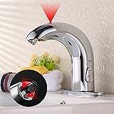 homelody® Badezimmer Wasserhahn Chrom Automatische für Waschbecken Waschtisch Bidet Smart Wasserhahn