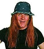 Panelize Hippie Hippiehut mit Haaren Hippieperücke Vogelscheuche 70er Jahre