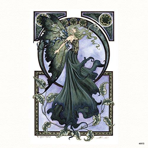 """Tree Free Grußkarten 60572 3,5 x 3,5 cm, grün-Fee """", von Amy Brown Kühlschrank-Magnet"""