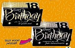 Idea Regalo - Subito disponibile Biglietto Auguri compleanno 18 ANNI con tasca portasoldi