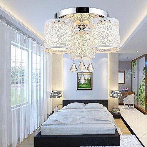 Moderne kreative Rundschreiben led Deckenleuchte Licht Kristall Lampe Schlafzimmer Wohnzimmer Lampe warm Farbwechsel-restaurants