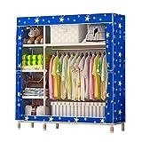 N&B Vliesstoff kleiderschrank Storage Tragbare Kleider Schrank veranstalter Schnell und Einfach zu assemblely Extra Stark und Haltbar - extraraum-A 168x45x98cm(66x18x39)