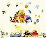 #4: The Splash Happy Animals Wall sticker (Multicolor, Wall Covering Area - 120(w) x 70(h) cm) - AY7034