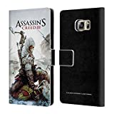 Head Case Designs Ufficiale Assassin's Creed Connor Ascia III Arte Chiave Cover a Portafoglio in Pelle per Samsung Galaxy S6 Edge+ / Plus