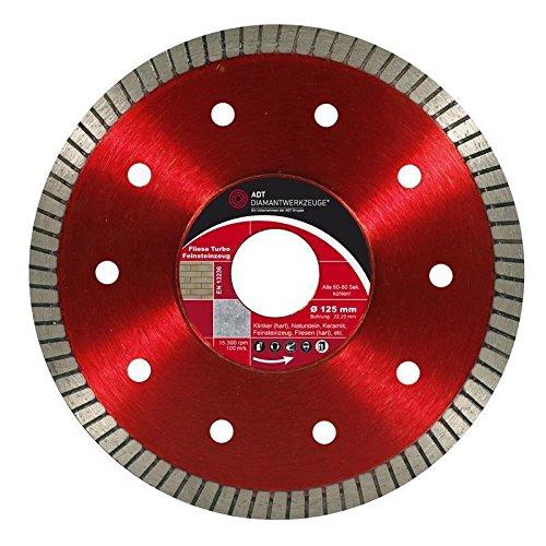Diamanttrennscheibe Ø 180 mm / 22,23 mm Bohrung TS Fliese Turbo Feinsteinzeug Diamant-Trennscheibe mit 7 mm Segmenthöhe für Feinsteinzeug