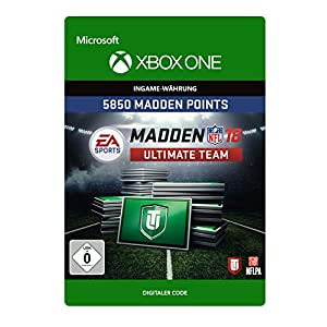 Madden NFL 18: MUT 5850 Madden Points Pack [Xbox One – Download Code]