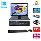 Pack PC HP Compaq 6200 Pro SFF Intel i3 3.3GHz 16 GB 2To Gravierer WIFI W7 Pro + 22