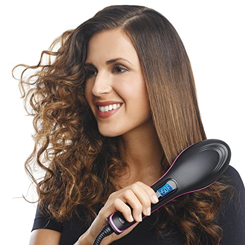 Glive's Simply Straight 2 in 1 Ceramic Straightening Styling Brush