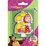 ?andle On A Cake Topper 2 Years Birthday Masha And The Bear Must Have Accessories For The Party Supplies And Birthday...