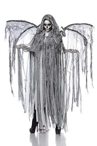Kälte Kostüm Halloween - Horror Halloween Halloweenkostüm Damen Engel Tod Skelett Skelettkostüm Geist Geisterkostüm Todkostüm Grusel