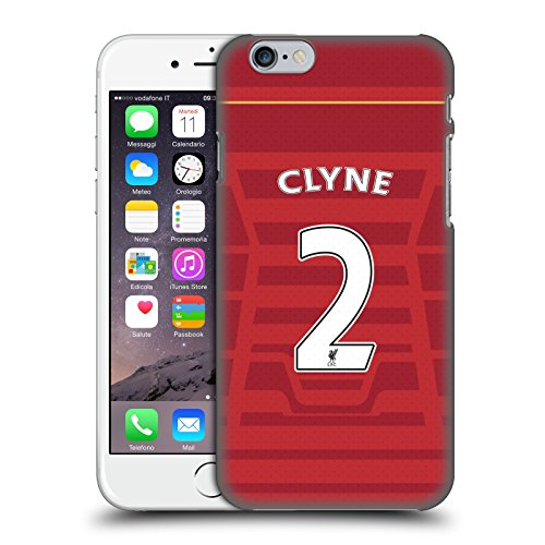 Offizielle Liverpool Football Club Coutinho Spieler Home Kit 16/17 Gruppe 1 Ruckseite Hülle für Apple iPhone 6 / 6s Clyne