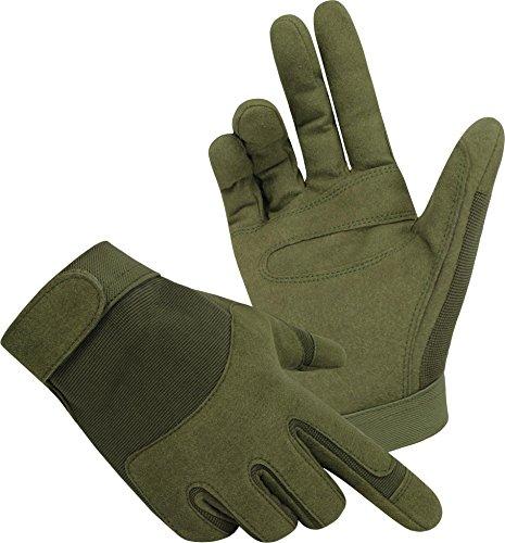 Tactical Army Gloves Herrenhandschuhe aus Spezialkunstleder Farbe Oliv Größe L