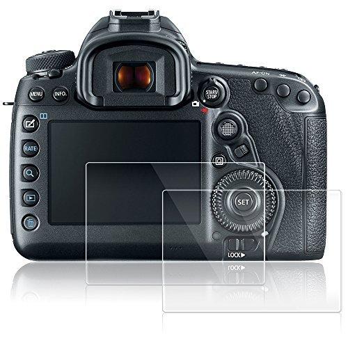 AFUNTA Displayschutzfolien für Canon EOS 5D MK IV Mark 4, 2 Packs Anti-Kratzer gehärtetes Glas Schutzfolien für DSLR Digitalkamera